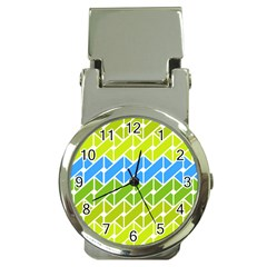 Link Pattern Money Clip Watches