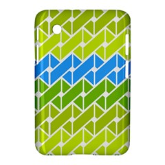 Link Pattern Samsung Galaxy Tab 2 (7 ) P3100 Hardshell Case  by AnjaniArt