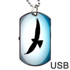 Moon Crow Dog Tag Usb Flash (one Side) by AnjaniArt