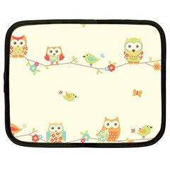 Owl Butterfly Bird Netbook Case (large)