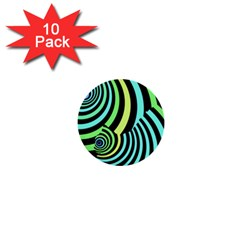 Optical Illusions Checkered Basic Optical Bending Pictures Cat 1  Mini Buttons (10 Pack)