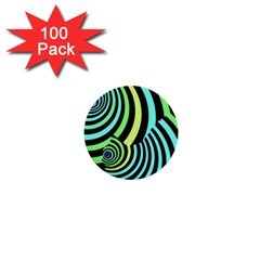 Optical Illusions Checkered Basic Optical Bending Pictures Cat 1  Mini Buttons (100 Pack)