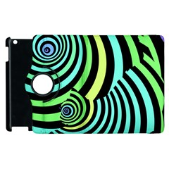 Optical Illusions Checkered Basic Optical Bending Pictures Cat Apple Ipad 3/4 Flip 360 Case by AnjaniArt