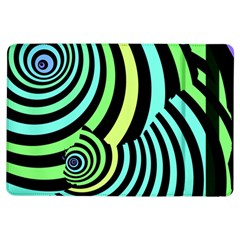 Optical Illusions Checkered Basic Optical Bending Pictures Cat Ipad Air Flip by AnjaniArt