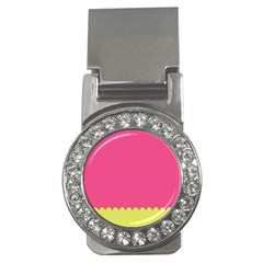 Pink Yellow Money Clips (cz)