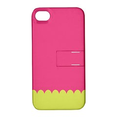 Pink Yellow Apple Iphone 4/4s Hardshell Case With Stand by AnjaniArt