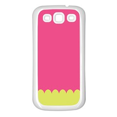 Pink Yellow Samsung Galaxy S3 Back Case (white)