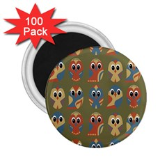 Owl Pattern Illustrator 2 25  Magnets (100 Pack)  by AnjaniArt