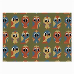 Owl Pattern Illustrator Large Glasses Cloth (2 Side) by AnjaniArt