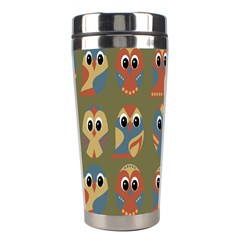 Owl Pattern Illustrator Stainless Steel Travel Tumblers by AnjaniArt