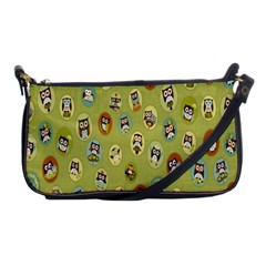Owl Round Green Shoulder Clutch Bags