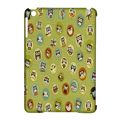 Owl Round Green Apple Ipad Mini Hardshell Case (compatible With Smart Cover)