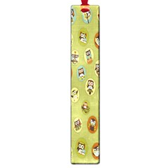 Owl Round Green Large Book Marks