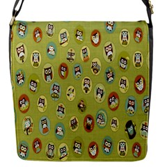 Owl Round Green Flap Messenger Bag (s)