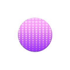 Purple And Pink Stars Golf Ball Marker (10 Pack) by AnjaniArt