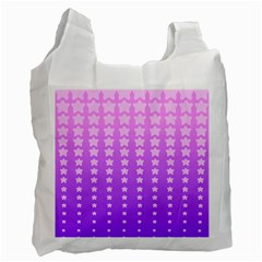 Purple And Pink Stars Recycle Bag (one Side) by AnjaniArt