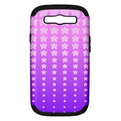 Purple And Pink Stars Samsung Galaxy S Iii Hardshell Case (pc+silicone) by AnjaniArt