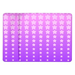 Purple And Pink Stars Samsung Galaxy Tab 10 1  P7500 Flip Case by AnjaniArt