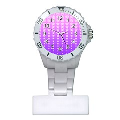 Purple And Pink Stars Plastic Nurses Watch