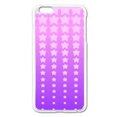 Purple And Pink Stars Apple Iphone 6 Plus/6s Plus Enamel White Case by AnjaniArt