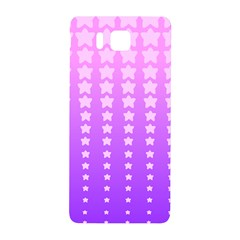 Purple And Pink Stars Samsung Galaxy Alpha Hardshell Back Case