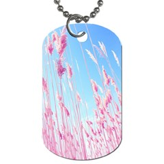 Pink Colour Dog Tag (two Sides)
