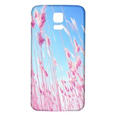 Pink Colour Samsung Galaxy S5 Back Case (white)