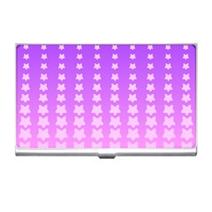 Purple And Pink Stars Line Business Card Holders by AnjaniArt
