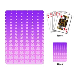 Purple And Pink Stars Line Playing Card