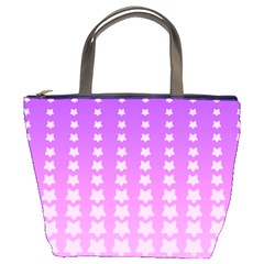 Purple And Pink Stars Line Bucket Bags by AnjaniArt