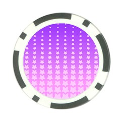 Purple And Pink Stars Line Poker Chip Card Guards (10 Pack)