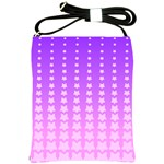 Purple And Pink Stars Line Shoulder Sling Bags Front