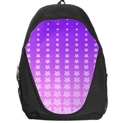 Purple And Pink Stars Line Backpack Bag