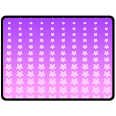 Purple And Pink Stars Line Double Sided Fleece Blanket (large)