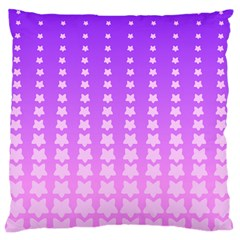 Purple And Pink Stars Line Standard Flano Cushion Case (one Side) by AnjaniArt