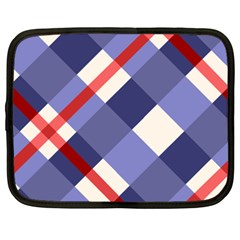 Red And Purple Plaid Netbook Case (xxl)