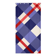 Red And Purple Plaid Shower Curtain 36  X 72  (stall)
