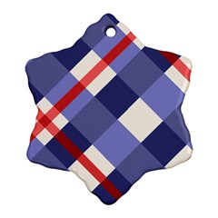 Red And Purple Plaid Ornament (snowflake)