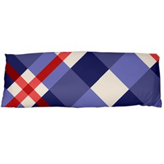 Red And Purple Plaid Body Pillow Case Dakimakura (two Sides)