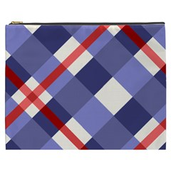 Red And Purple Plaid Cosmetic Bag (xxxl)