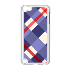 Red And Purple Plaid Apple Ipod Touch 5 Case (white) by AnjaniArt