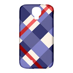 Red And Purple Plaid Samsung Galaxy S4 Classic Hardshell Case (pc+silicone) by AnjaniArt