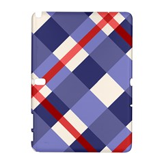 Red And Purple Plaid Galaxy Note 1 by AnjaniArt