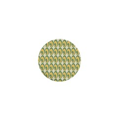 Pattern Circle Green Yellow 1  Mini Magnets