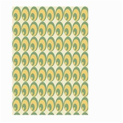 Pattern Circle Green Yellow Large Garden Flag (two Sides) by AnjaniArt