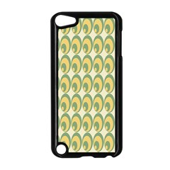 Pattern Circle Green Yellow Apple Ipod Touch 5 Case (black)