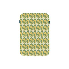 Pattern Circle Green Yellow Apple Ipad Mini Protective Soft Cases by AnjaniArt