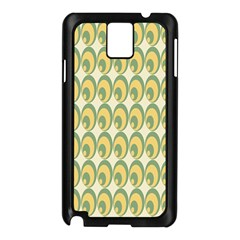 Pattern Circle Green Yellow Samsung Galaxy Note 3 N9005 Case (black)
