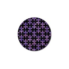 Puzzle1 Black Marble & Purple Marble Golf Ball Marker