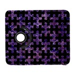 PUZZLE1 BLACK MARBLE & PURPLE MARBLE Samsung Galaxy S  III Flip 360 Case Front